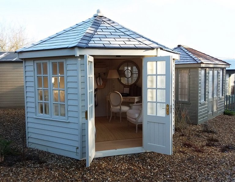 3.6 x 3.6m Octagonal Wiveton Summerhouse at Cranleigh