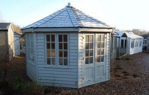 Octagonal 3.6 x 3.6m Wiveton Summerhouse at Cranleigh in Sandstone