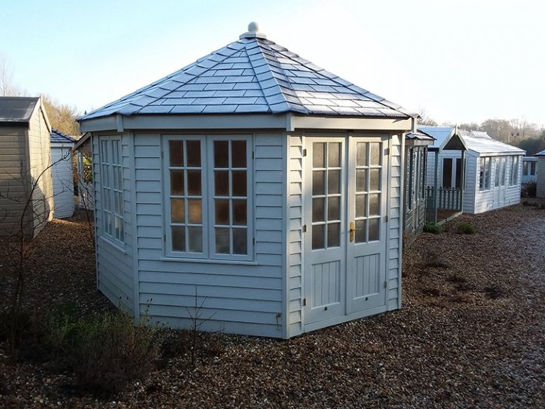 Octagonal 3.6 x 3.6m Wiveton Summerhouse at Cranleigh