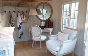 Interior of the Cranleigh Octagonal 3.6 x 3.6m Wiveton Summerhouse in Sandstone