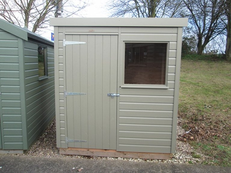 1.2 x 1.8m Pent Roof Classic Shed at Nottingham