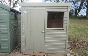 1.2 x 1.8m Pent Roof Classic Shed at Nottingham in Stone from our Classic Paint System