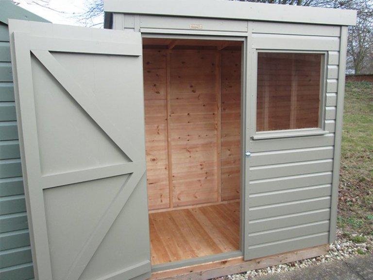 Nottingham 1.2 x 1.8m Pent Roof Classic Shed