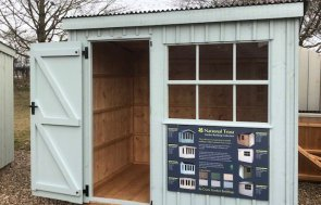 Nottingham 1.8 x 2.4m National Trust Oxburgh Shed in Painters Grey from our National Trust colour palette