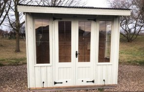 Nottingham 1.8 x 2.4m National Trust Flatford Summerhouse in Disraeli Green from our National Trust colour palette