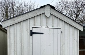 Nottingham 1.8 x 3.0m National Trust Peckover Shed in Earls Grey from the National Trust colour palette