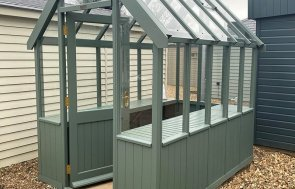 St Albans 1.8 x 2.4m Greenhouse in Farrow & Ball Green Smoke
