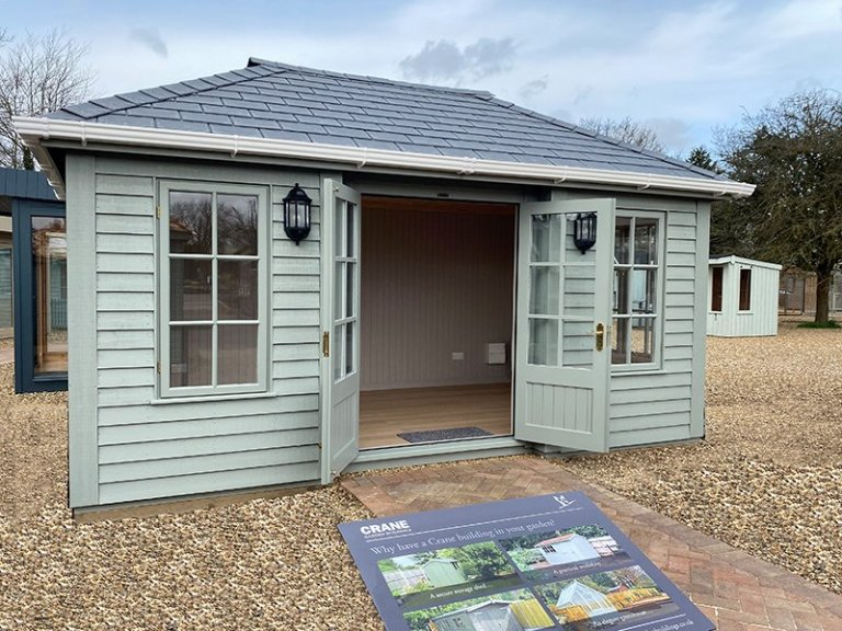3.0 x 4.8m Garden Room at St Albans with open double doors