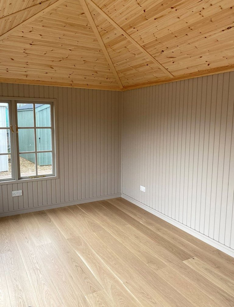 Inside the 3.0 x 4.8m Garden Room at St Albans