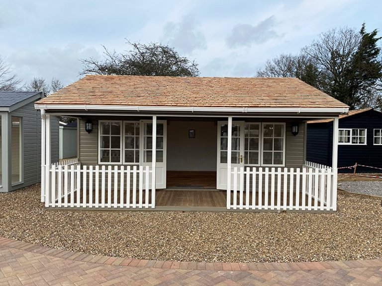 St Albans 6.0 x 6.0m Pavilion Garden Room with open double doors