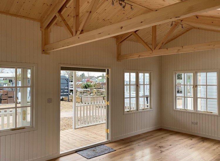 Inside the St Albans 6.0 x 6.0m Pavilion Garden Room