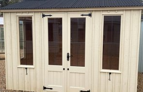 2.4 x 3.0m Lavenham National Trust Summerhouse in Dome Ochre at St Albans