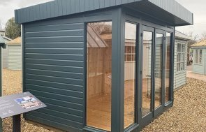 2.4 x 3.0m Salthouse Studio at St Albans in Slate from our exterior paint system