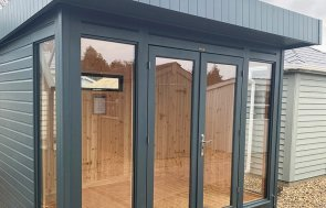 St Albans 2.4 x 3.0m Salthouse Studio in Slate from our exterior paint system