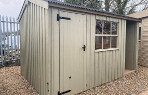 2.4 x 3.6m Blickling National Trust Shed at St Albans in Wades Lantern from the National Trust paint palette