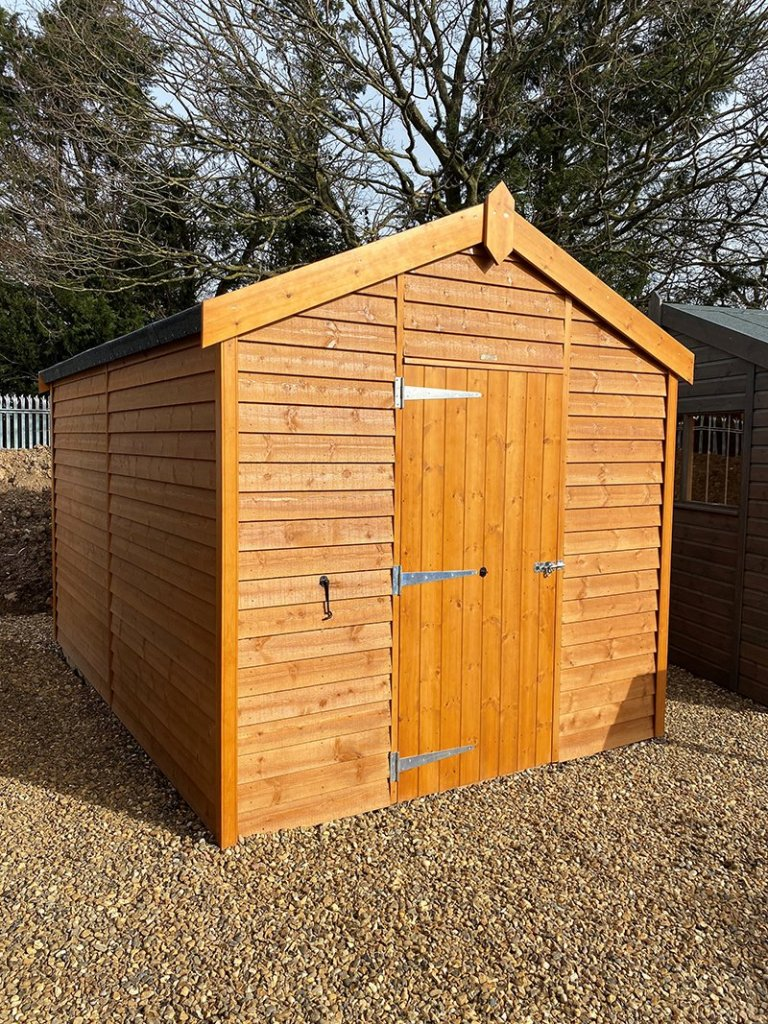 2.4 x 3.6m Superior Shed at St Albans in Sikkens Teak