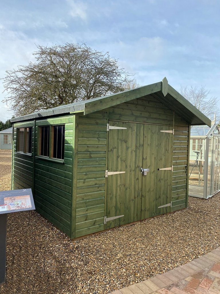 St Albans 3.0 x 3.6m Superior Shed in Sikkens Green