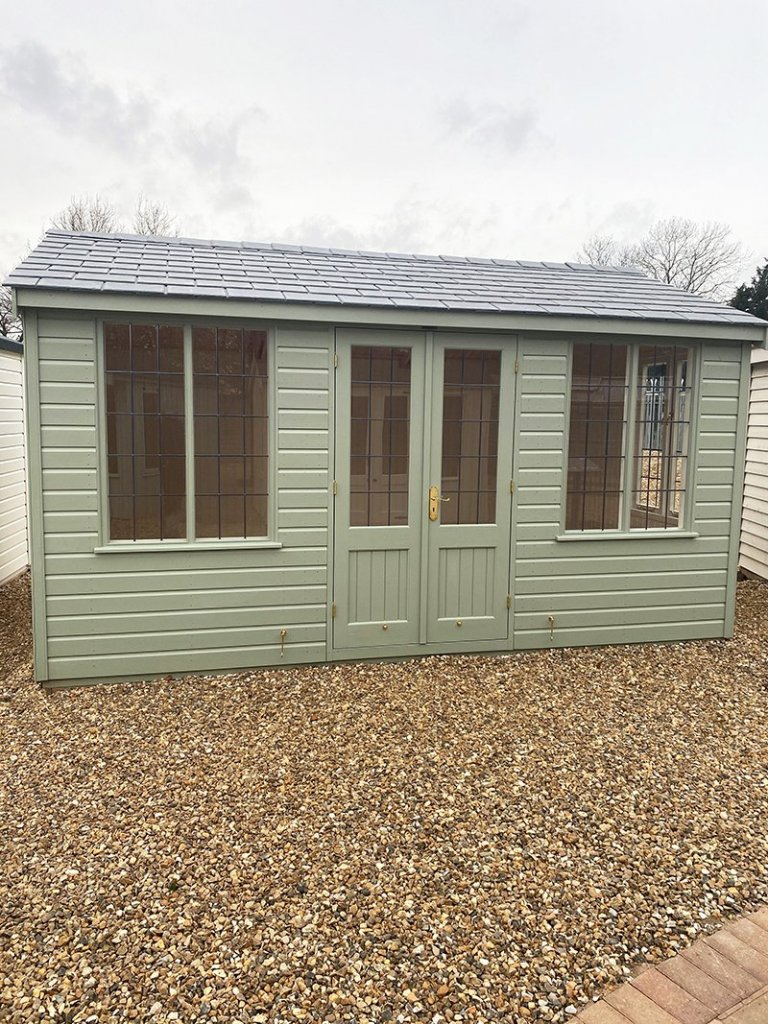 3.0 x 4.2m Holkham Summerhouse at our St Albans show site