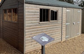 St Albans 3.0 x 4.8m Superior Shed in Sikkens Grey