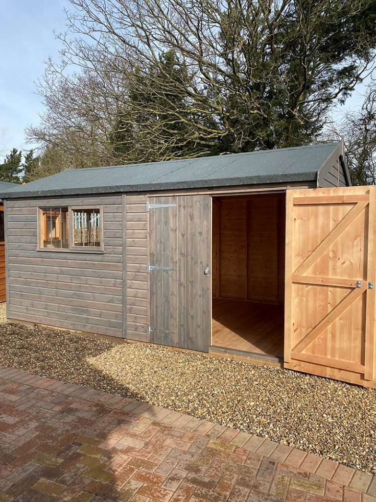 St Albans 3.0 x 4.8m Superior Shed with open door