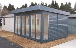 Burford 3.6 x 4.2m Salthouse Studio painted in Slate from our exterior paint system
