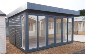 3.6 x 4.2m Salthouse Studio at Burford painted in Slate from our exterior paint system