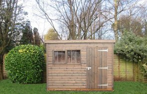 Superior Shed 1.8 x 3.0m treated with a Grey Sikkens wood stain