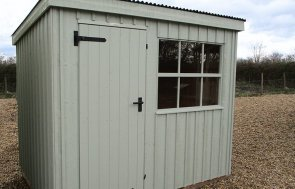 1.8 x 2.4m National Trust Oxburgh Shed in Disraeli Green at Brighton