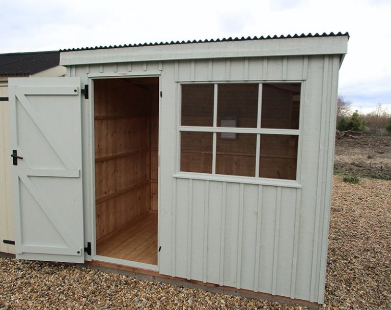 Brighton 1.8 x 2.4m National Trust Oxburgh Shed with open door