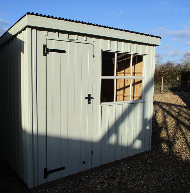 Close up of the 1.8 x 2.4m National Trust Oxburgh Shed at Brighton