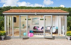 Family Room Burnham Studio with bright interior decor