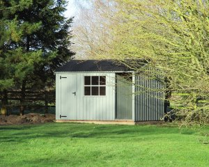 2.4 x 3.6m National Trust Blickling Shed in Terrace Green