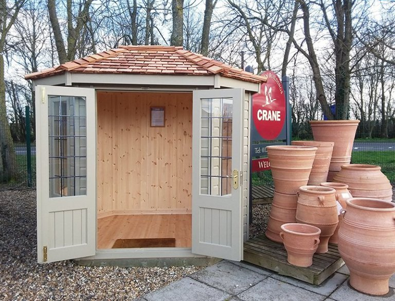 Brighton 1.8 x 2.5m Wiveton Summerhouse with open double doors
