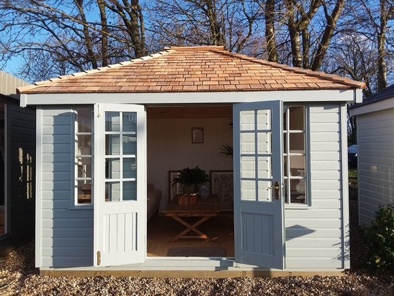 Dressed Cley Summerhouse at Brighton