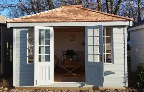 Dressed Cley Summerhouse at Brighton measuring 3.0 x 3.6m
