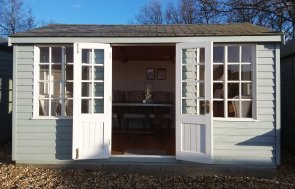 Dressed Holkham Summerhouse at Brighton measuring 3.0 x 4.2m