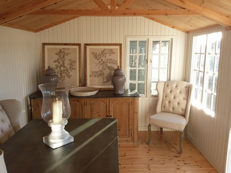 Inside the dressed Holkham Summerhouse at Brighton