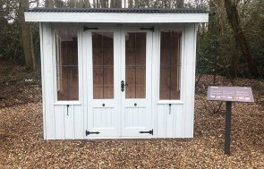 1.8 x 2.4m National Trust Flatford Summerhouse Sunningdale in Painters Grey