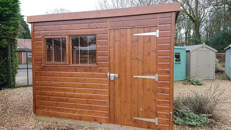 Sikkens Walnut Superior Shed at Newbury