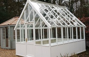 3.0 x 3.6m Greenhouse at Newbury painted in Ivory