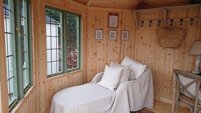 Inside the dressed Newbury 3.0 x 3.0m Wiveton Summerhouse