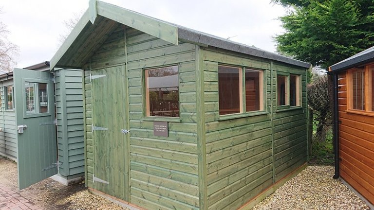 2.4 x 3.6m Superior Shed at Newbury