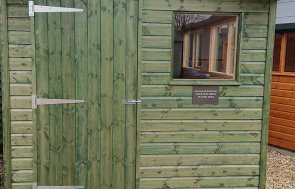 Newbury 2.4 x 3.6m Superior Shed in Sikkens Green