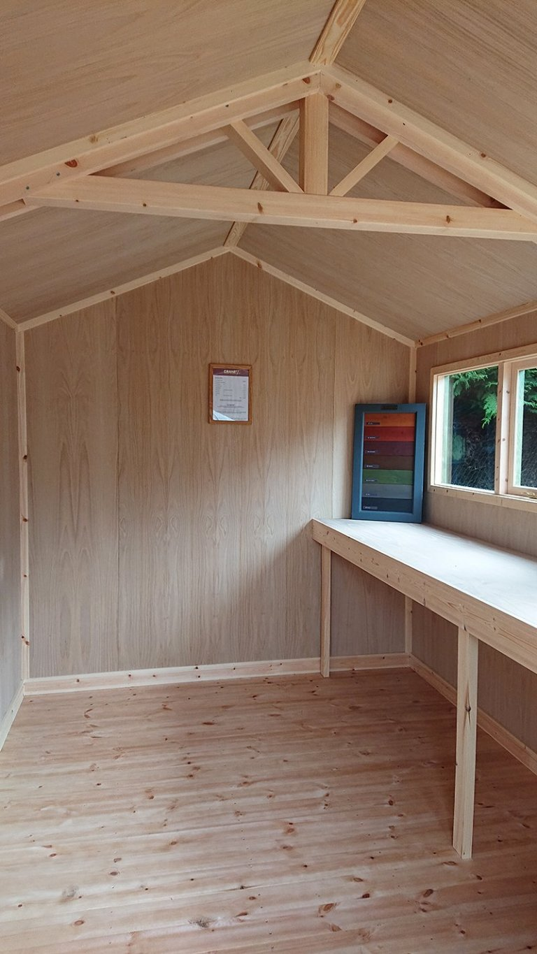 Inside the Newbury 2.4 x 3.6m Superior Shed