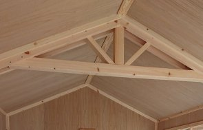Inside the Newbury 2.4 x 3.6m Superior Shed in Sikkens Green