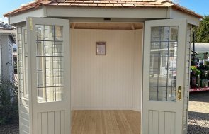 Nottingham 2.4 x 3.0m Wiveton Summerhouse painted in Farrow & Ball Light Gray