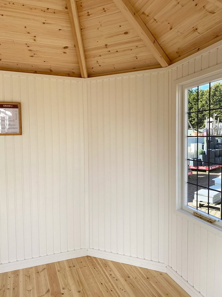 Inside the Nottingham 2.4 x 3.0m Wiveton Summerhouse