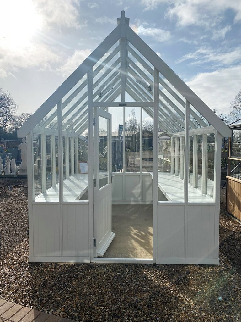 Ivory painted Greenhouse at St Albans