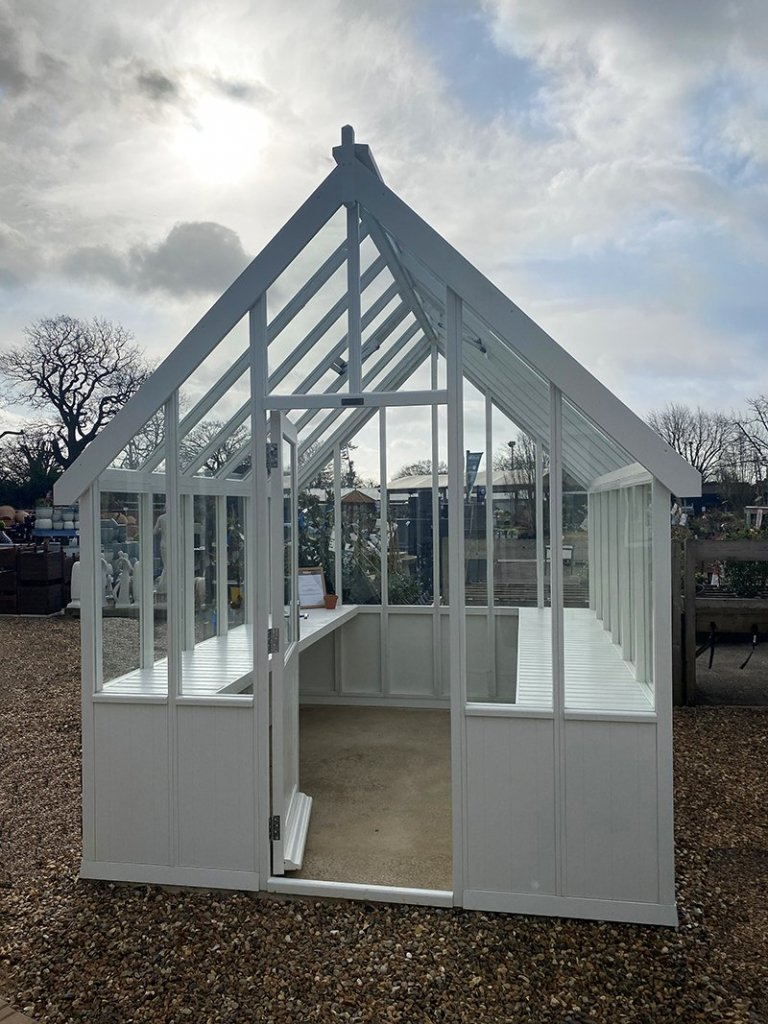 St Albans Ivory painted Greenhouse