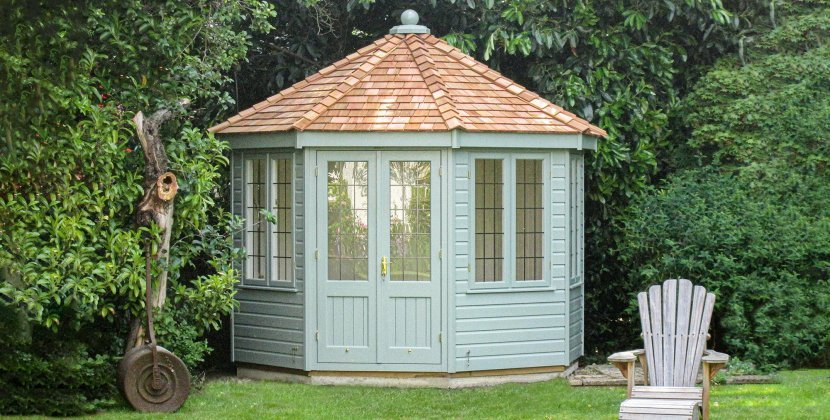 Wiveton Summerhouse painted in Exterior Sage